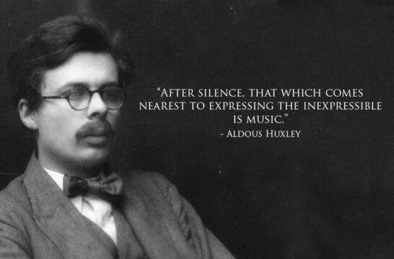 Aldous Huxley on music...